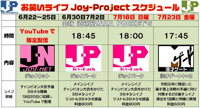 「ジョイプロジェクト 漫才ゲート1→2」の写真